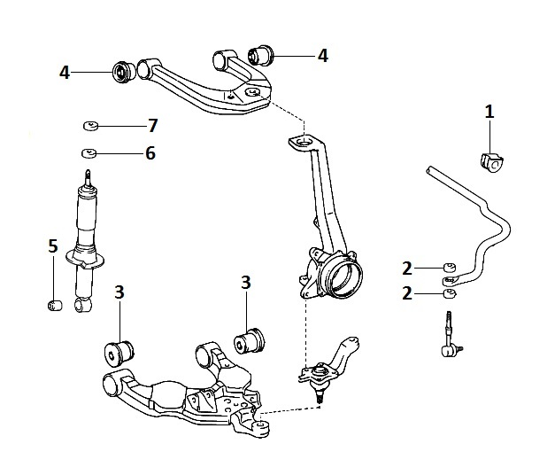 Схема подвески toyota prado